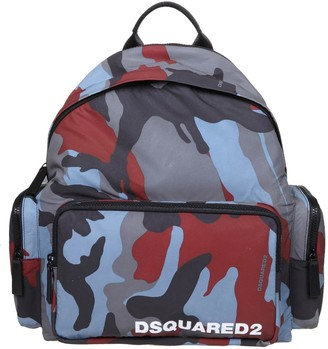 DSQUARED2 Backpack In Camouflage Fabric