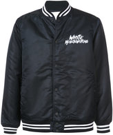 White Mountaineering logo printed bomber jacket