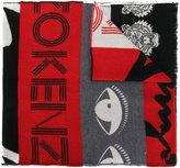 Kenzo multi icons scarf