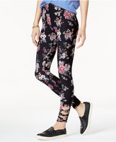 Hippie Rose Juniors' Printed Strappy Leggings