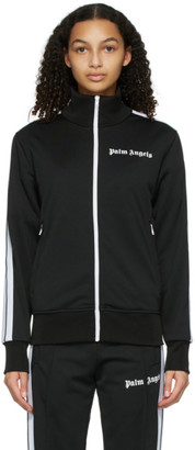 Palm Angels Black and White Classic Track Jacket