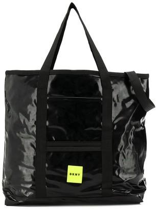 DKNY Logo Embroidered Shoulder Bag
