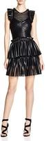 Maje Remony Mesh Stripe Dress