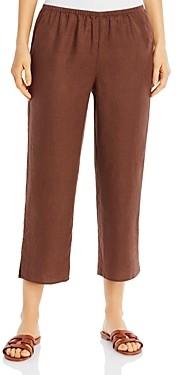 Eileen Fisher Organic Linen Cropped Pants