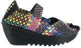 Bernie Mev. Women's Bernie Mev, Braided Hallie Wedge Shoe PANDA 4 M