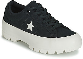 Converse ONE STAR LUGGED COURT STOPPER CANVAS OX women's Shoes (Trainers) in Black