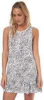 Volcom New Women's Paisley Daze Shift Dress Lace Viscose White