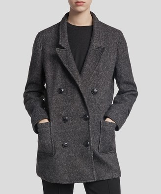 Atm Fleece Boyfriend Blazer - Black/ Grey Combo