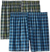 Hanes Red Label Men's Inside Exposed Waistband Woven Boxers (2-Pack)
