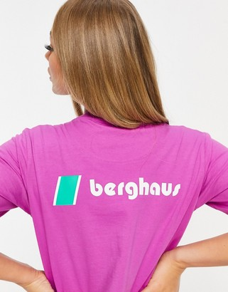 Berghaus Heritage Front and Back Logo t-shirt in purple