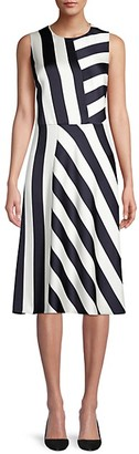 HUGO BOSS Dalta Striped Dress