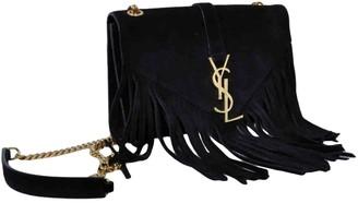 Saint Laurent Satchel monogramme Black Suede Handbags