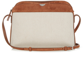 The Row Multi-pouch canvas and suede cross-body bag