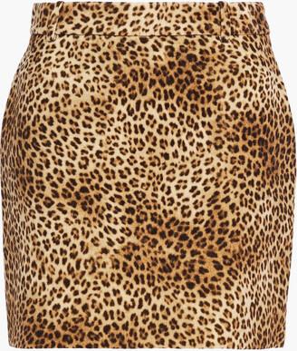 Nili Lotan Rivoli Leopard-print Cotton-velvet Mini Skirt