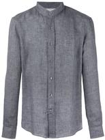 Brunello Cucinelli mandarin neck shirt - men - Cotton/Linen/Flax - L