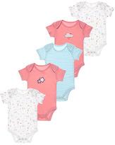 Tu clothing Pink 5Pack Crazy Cat Bodysuits