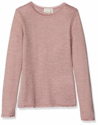 Name It Girl's Nkfwang Wool Needle Ls Top Noos Long Sleeve