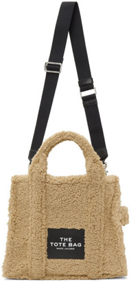 Marc Jacobs Beige Sherpa The Small Traveler Tote