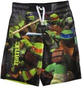 Nickelodeon Big Boys Grey TMNT Print Swimwear Shorts