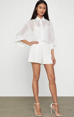 BCBGMAXAZRIA Cotton Linen Shorts