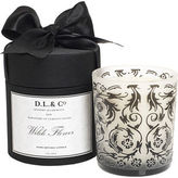 D. L. & Co. Wilde Flower Candle- Black