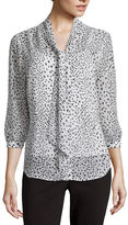 Liz Claiborne 3/4-Sleeve Dot Blouse