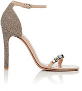 Valentino Women's Embellished Ankle-Strap Sandals-CREAM, PINK