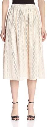 ABS by Allen Schwartz Women's Sheer Midi Skirt