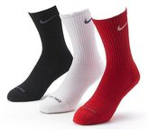 Nike Men's Dri-Fit Cushioned Crew Socks - 3 Pack (/White/Black, Shoe Size: 8-12)