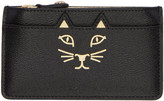 Charlotte Olympia Black Feline Coin Pouch