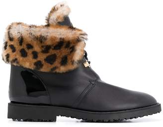 Högl fur-trimmed ankle boots