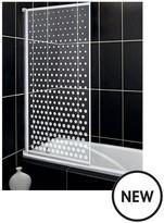Aqualux Aqua 3 Bath Screen With Spotted Glass Pattern