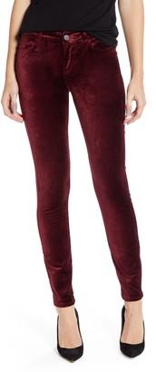 Paige Verdugo Velveteen Ankle Skinny Jeans