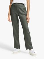 John Lewis & Partners Straight Leg Linen Trousers