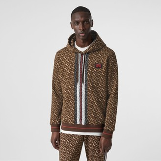 Burberry Monogram Stripe Print Cotton Hoodie