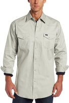 Wrangler Men's Authentic Cowboy Cut Work Western Long-Sleeve Firm Finish Shirt