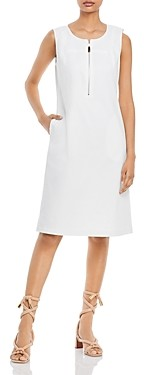 Lafayette 148 New York Audren Zippered Neck Sheath Dress