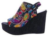 Stuart Weitzman Comma Platform Wedge Sandals