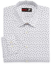 Jf J.Ferrar Easy-Care Stretch Big & Tall Long Sleeve Broadcloth Floral Dress Shirt