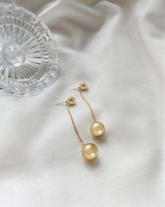 Wanderlust + Co Looking Glass Gold Earrings