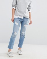 Tommy Hilfiger Lana Straight Crop Jean with Rips