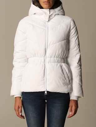 Armani Collezioni Armani Exchange Jacket Detachable Hood Down Jacket With Logo Elastic Waist