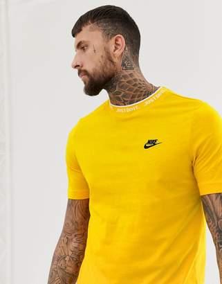 Nike Just Do It Logo T-Shirt In Yellow
