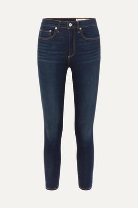 Rag & Bone Dre Cropped Mid-rise Slim-leg Jeans - Dark denim