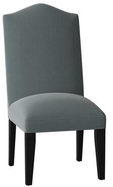 Sloane Whitney Gramercy Upholstered Parsons Chair Body Fabric: Angela Cloud, Leg Color: Black Matte