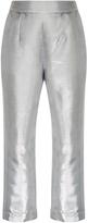 Isa Arfen Metallic Cropped Pants