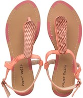 Paper Dolls Womens Ankle Strap Thong Sandals Pink