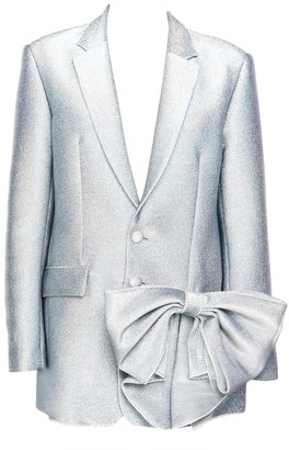 Area Silver Hologram Crystal Bow Blazer