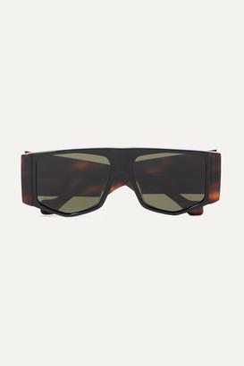 Loewe Oversized Hexagon-frame Tortoiseshell Acetate Sunglasses