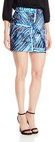 Milly Women's Scribble Print Modern Mini Skirt